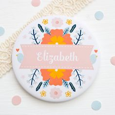 Personalised 'you are lovely' pocket mirror by JoanneHawker. #PocketMirror #Personalised #YouAreLovely #ValentinesForFriends