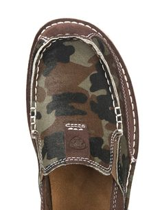 96f61133f2b1 Ariat Cruiser Women's Chocolate Chip Suede with Camo Hair Moc Casual Shoe    Cavender's Sock Shoes