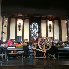 Crafts at the cathedral 2015. All that yarn and the temari on display