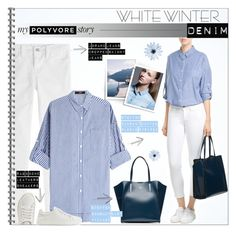 """""""On Trend: Winter White Denim"""" by alves-nogueira ❤ liked on Polyvore featuring J Brand, Steffen Schraut, rag & bone and Trilogy"""
