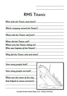 The Titanic: Opinion Practice One