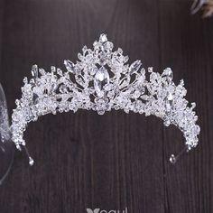 Sparkly Silver Tiara 2018 Metal Rhinestone Beading Crystal Accessories – Famous Last Words Bridal Crown, Bridal Tiara, Bridal Earrings, Wedding Jewelry, Wedding Veils, Bridal Headpieces, Wedding Hair, Wedding Dress, Headpiece Jewelry