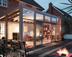 Double Glazed Lean To Conservatories from Crown Conservatories & Windows in Fleet & Reading. A Lean To Conservatory is a practical & versatile conservatory. Garden Room, Lean To Roof, Winter Garden, Glass Room, Curved Pergola, Lean To Conservatory, Conservatory Design, Modern Conservatory, Pergola Cost
