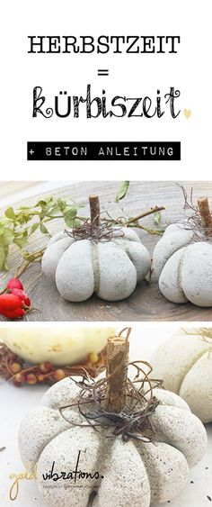 Great autumn decoration to make yourself – pumpkins made of concrete - Trends Garden Decorations Cement Crafts, Concrete Projects, Diy Projects, Diy Concrete, Lose Something, Diy Pumpkin, Farmers Market, Flower Pots, Fall Decor