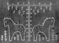 https://flic.kr/p/d3J82N | 1950s Swedish embroidery  horse