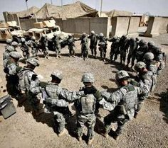 Greater love hath no man than this, that a man lay down his life for his friends. John 15:13 ...... Soldiers in prayer to the Lord who holds their lives in His hand. This is how the founding fathers wanted it.