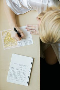 Get romantic! Look at old pictures and write your soon-to-be hubby a love note! | What To Do the Night Before Your Wedding