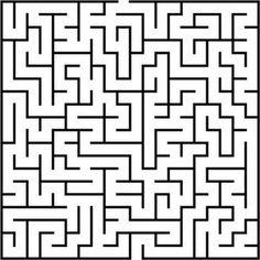 PublicDomainVectors.org-Maze puzzle illustration vector