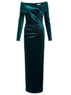 Velvet Bardot Long Dress