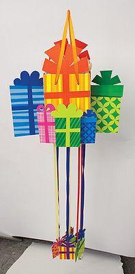 Birthday Presents Pull String Pinata Pk 1