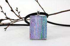 Dichroic Fused Glass Pendant  Icy Pastel Purple by tnglassstains, $20.00  Grace?