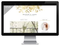 Meadow | by Anna - Blog Design | Blogger Templates - Designer Blogs. Gold!