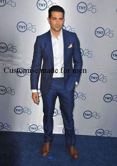 New Design One button Satin Lapel Back Vent Groom Tuxedo (Jacket+Pants+Tie)