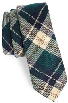 Men's Nordstrom Men's Shop Howerton Plaid Cotton Skinny Tie