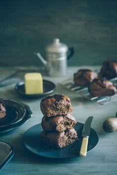 Chocolate & Chocolate Chip Hot Cross Buns | Souvlaki For The Soul