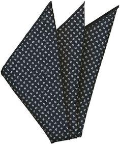 Macclesfield Printed Silk Pocket Square #79