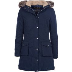 Women's Barbour Waterproof Wrest Coat - Navy (3.544.890 IDR) ❤ liked on Polyvore featuring outerwear, coats, navy parka, blue parka, water proof coat, navy blue parka and barbour coats