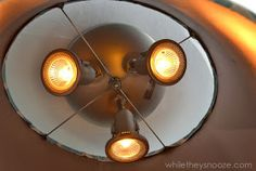 While They Snooze: How to Cover an Ugly Light Fixture Track Lighting, Lighting Ideas, Being Ugly, Light Fixtures, New Homes, Ceiling Lights, Make It Yourself, Cover, House