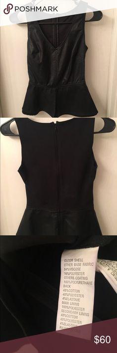 Trafaluc Zara XS Leather Like vest Trafaluc Zara XS Leather Like vest Size XS Zara Jackets & Coats Vests