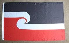 Maori flag of New Zealand - also known as Tino Rangatiratanga Flag