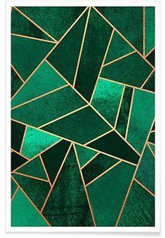 Emerald and Copper - Elisabeth Fredriksson - Premium poster