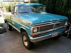 1970 Ford truck. My first truck was similar to this. It was an F150 & got better gas mileage than the later F150s I owned.