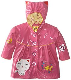 Kidorable Little Girls' Lucky Cat All Weather Waterproof Coat >>> You can get more details at