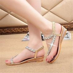 4e63791f53d9 Women s Shoes Flat Heel Mary Jane Sandals Casual Silver Gold – USD   17.99  Cheap