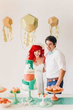The 'Little Mermaid'-Themed Wedding Perfectly Captures Disney Magic