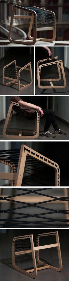 The Air Lounge Chair is a no-nonsense that brings stylish furniture to the point! The elegant .- Der Air Lounge Chair ist ein No-Nonsense, der stilvolle Möbel auf den Punkt bringt! Das elegante … The Air Lounge Chair is a no-nonsense, the stylish … - Air Lounge, Lounge Chairs, Plywood Furniture, Furniture Decor, Furniture Design, Recycling Furniture, Lounge Furniture, Ideias Diy, Furniture Inspiration