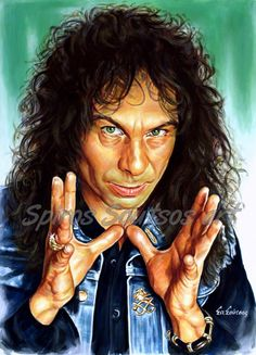 Ronnie James Dio, Black Sabbath, Canvas Print, Wall Art, original painting portrait on canvas Hard Rock, Buy Prints, Canvas Prints, Painting Canvas, James Dio, Music Artwork, Judas Priest, Black Sabbath, Movie Posters