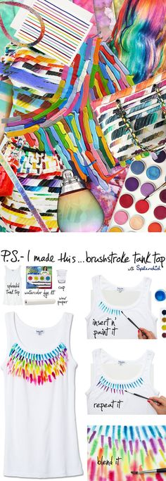 P.S.-I made this...Brushstroke Tank Top with @splendidla #PSIMADETHIS #DIY