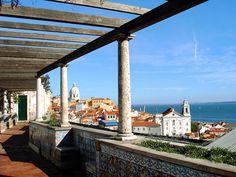 Miradouro de Santa Luzia, Lisbon (Portugal)