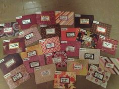 """Amanda: """"My rendition of """"open when"""" letters for Kevin for our anniversary this week. I made the envelopes out of scrapbook paper by tracing an unfolded envelope."""""""