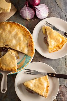 Made with a regional cheese, this humble and homely Lancashire cheese and onion plate pie, from Only Crumbs Remain is full of flavour and comfort. Lancashire Cheese, Cheese And Onion Pie, Cheese Recipes, Cooking Recipes, Baked Dinner Recipes, Regional, Plate, Favorite Recipes, Garlic Chicken