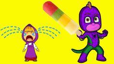 Masha Crying, PJ Masks Gekko Givving  Ice Cream To Her (New)