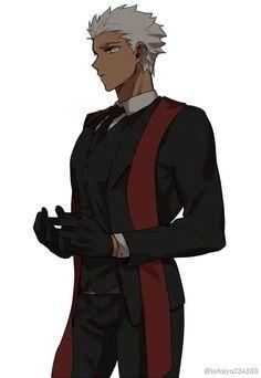Skins Characters, Fate Characters, Boy Character, Character Design, Character Inspiration, Hot Anime Boy, Anime Guys, Fate Zero Kiritsugu, Fate Archer