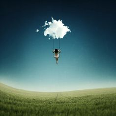 """This showcase of Best Surreal Photography Examples"""" is really acceptable effort of very talented German artist Anja Stiegler. She's a creative photographer and image artist alongside her job as a project manager. Creative Photography, Street Photography, Art Photography, Exposure Photography, Levitation Photography, Digital Photography, Image Ciel, Ligne D Horizon, Foto Fantasy"""