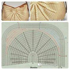 Best 12 Crochet Seashell Bag Pattern by Crochet For You. Free Crochet Bag, Crochet Pouch, Crochet Handbags, Crochet Purses, Crochet Diagram, Crochet Patterns, Crotchet Bags, Butterfly Bags, Crocodile Stitch