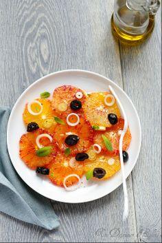 Salade doranges et olives à la sicilienne   Sicilian blood orange salad. Juicy, fresh and light