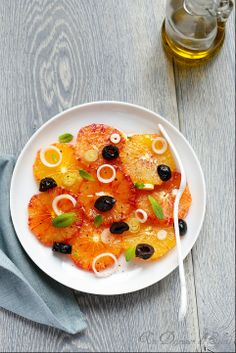 Salade doranges et olives à la sicilienne | Sicilian blood orange salad. Juicy, fresh and light