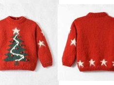 crochet pullover for men Christmas Tree Sweater, Christmas Knitting, Intarsia Knitting, Free Knitting, Dress Out, Diy Dress, Red Sweaters, Ugly Sweater, Mens Shirt Pattern