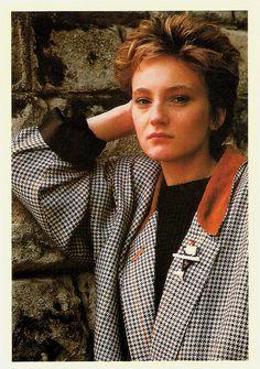 Patricia Kaas. British postcard by New Line, no. 115.