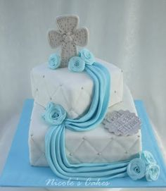 Confections, Cakes & Creations!: Christening/Baptism Cake for a Baby Boy
