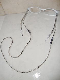 Beaded Eyeglass Holder / Eyeglass Chain by CoastalCreationz