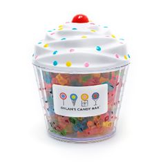 This novel cupcake container is almost as decadent as the twelve flavors of scrumptious gummy bears inside. This novel cupcake container is almost as decadent as the twelve flavors of scrumptious gummy bears inside. Dylan's Candy, Sour Candy, Bear Cupcakes, Cute Cupcakes, Irish Cream, Chocolates, Sour Belts, Cupcake Container, Candy Packaging