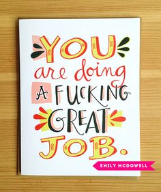 Great job card by Emily McDowell at 2013 National Stationery Show // photo: Design*Sponge