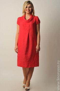 Платье и льна для полных фото