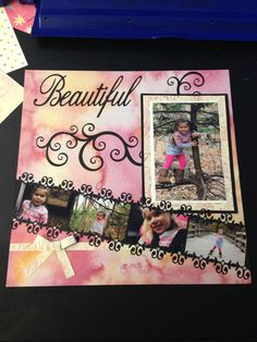 cute little girl scrapbook page
