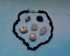 Hey, I found this really awesome Etsy listing at https://www.etsy.com/uk/listing/601816876/onyx-semiprecious-chips-necklace-choker